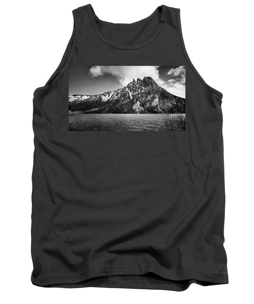 Big Snowy Mountain In Black And White Tank Top