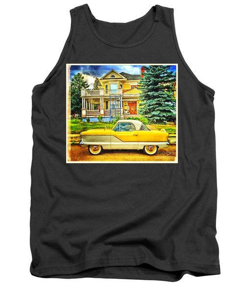 Big Yellow Metropolis Tank Top by Craig J Satterlee