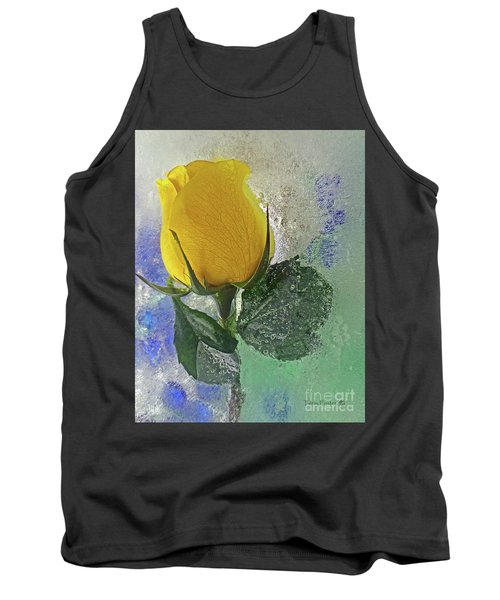 Tank Top featuring the digital art Big Yellow by Terry Foster