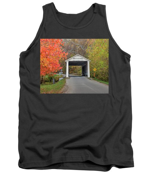 Tank Top featuring the photograph Billie Creek Covered Bridge by Harold Rau