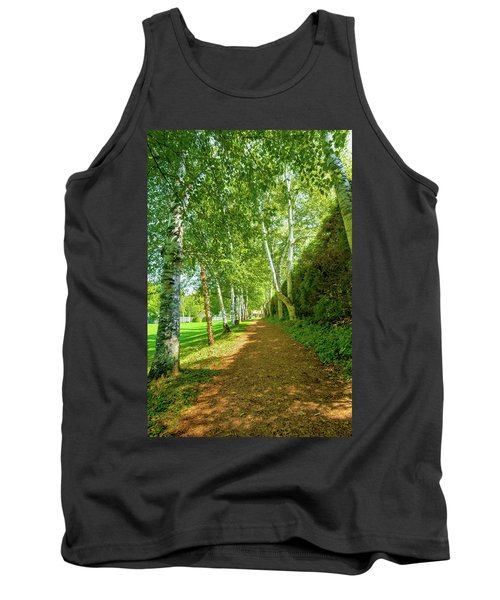 Tank Top featuring the photograph Birch Gauntlet by Greg Fortier