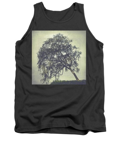 Tank Top featuring the photograph Birch In The Mist by Ari Salmela