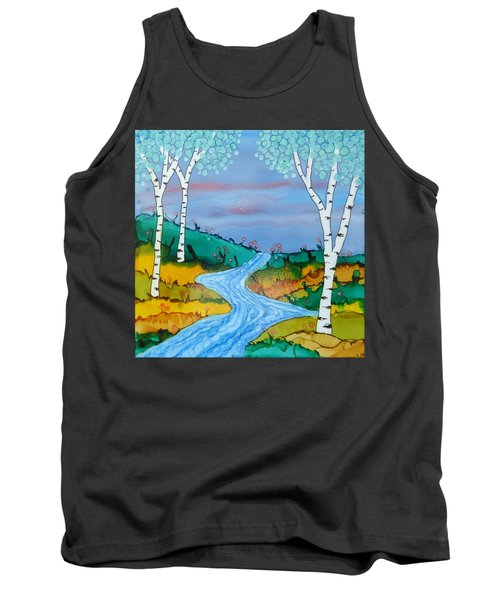 Birch Trees And Stream Tank Top