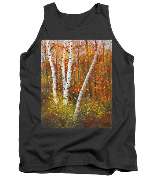 Birches Tank Top by Garry McMichael