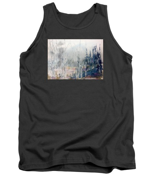 Birches In Haze  Naim's Enchatned Forest Tank Top
