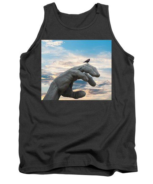 Bird On Hand Tank Top