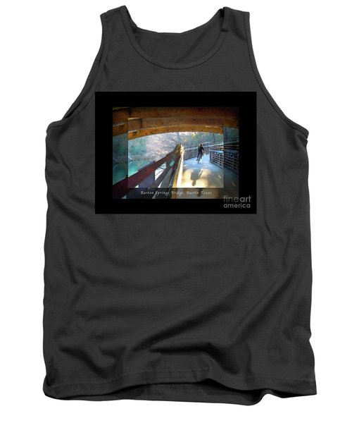 Birds Boaters And Bridges Of Barton Springs - Bridges One Greeting Card Poster V2 Tank Top