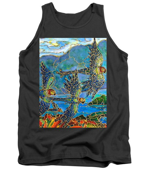 Birds Of Paradise Tank Top by Rae Chichilnitsky