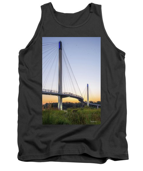 Birds Soaring Over Bob Kerry Bridge Tank Top