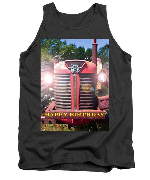Birthday Card -- Big M-f Tank Top