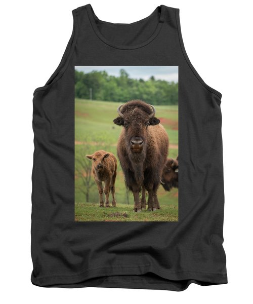 Tank Top featuring the photograph Bison 4 by Joye Ardyn Durham