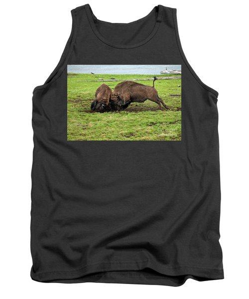 Bison Fighting Tank Top