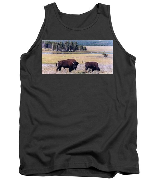 Bison In Yellowstone Tank Top