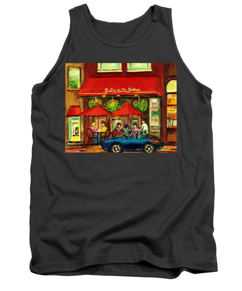 Bistro On Greene Avenue In Montreal Tank Top