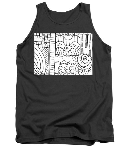 Black And White Abstract  Tank Top by Patricia Cleasby