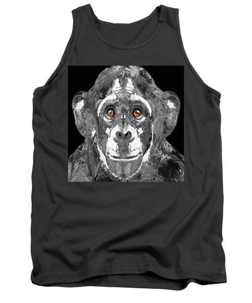 Black And White Art - Monkey Business 2 - By Sharon Cummings Tank Top by Sharon Cummings