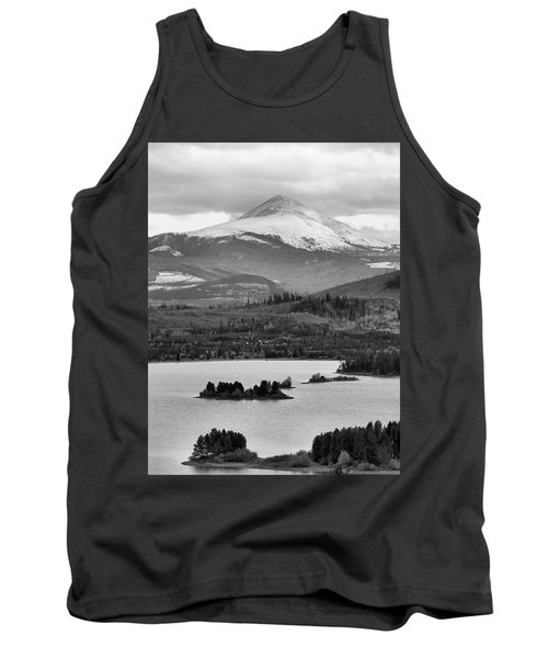 Tank Top featuring the photograph Black And White Breckenridge by Dan Sproul