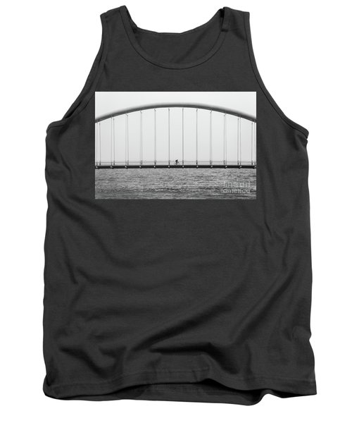 Tank Top featuring the photograph Black And White Bridge by MGL Meiklejohn Graphics Licensing