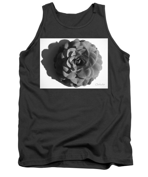 Camellia In Black And White Tank Top
