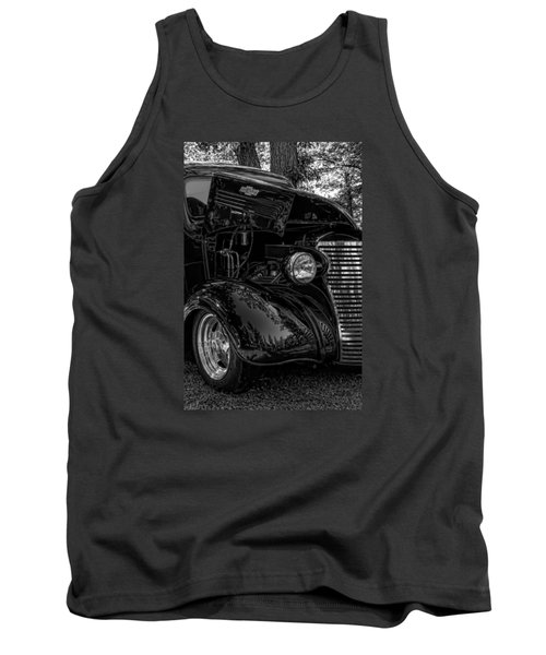 Tank Top featuring the photograph Black And White Chevrolet by Trey Foerster