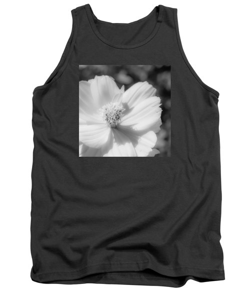 Black And White Flowers Tank Top