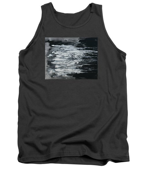Black And White Fluid Painting Tank Top