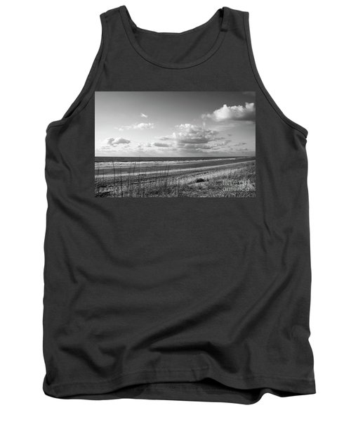 Black And White Ocean Scene Tank Top