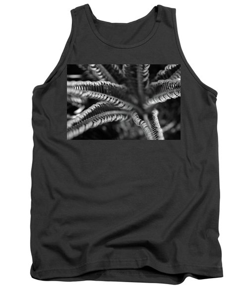 Black And White Palm Abstract 3624 Bw_2 Tank Top