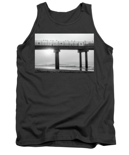 Tank Top featuring the photograph Black And White Pier Alabama  by John McGraw