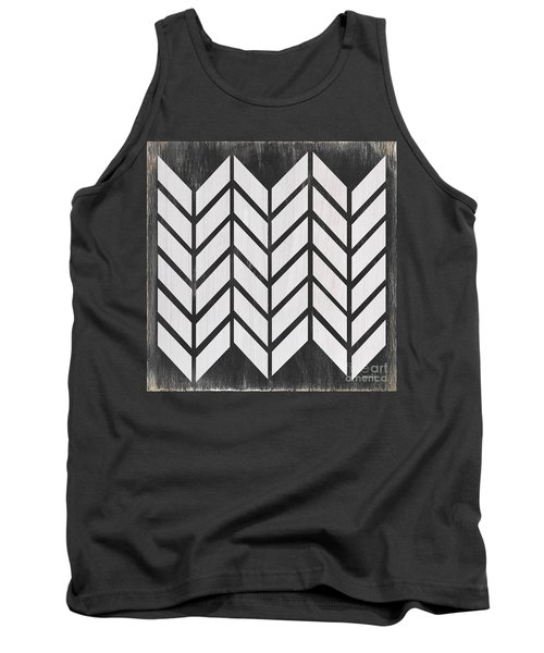 Tank Top featuring the painting Black And White Quilt by Debbie DeWitt