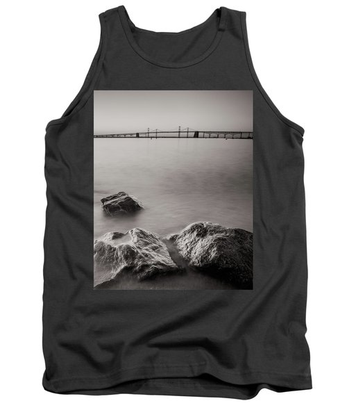 Tank Top featuring the photograph Black And White Sandy Point by Jennifer Casey