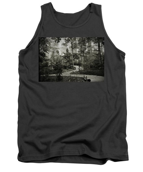 Black And White Vintage Edit -walk In Peace  Tank Top