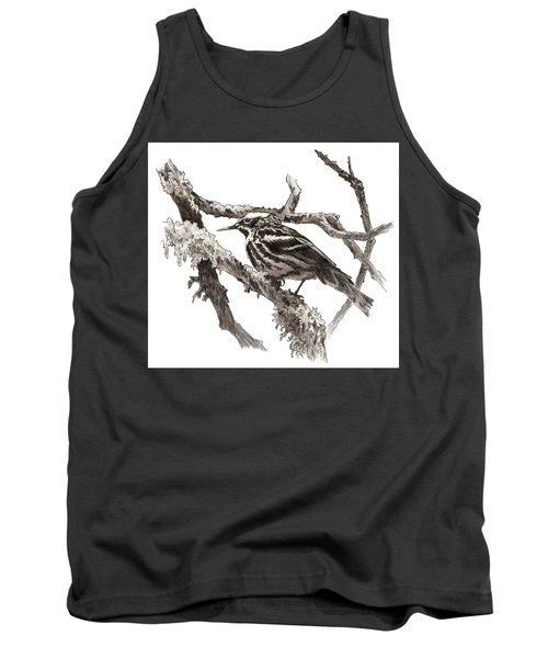 Black-and-white Warbler Tank Top