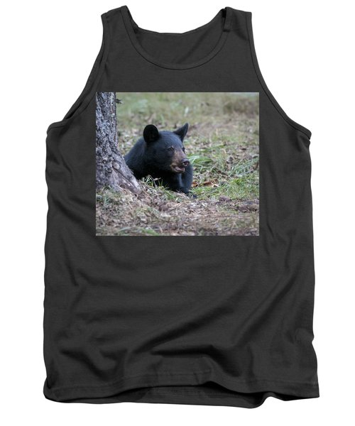 Black Bear Resting Tank Top by Tyson and Kathy Smith