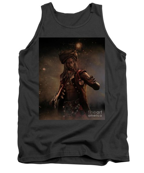 Black Caesar Pirate Tank Top by Shanina Conway