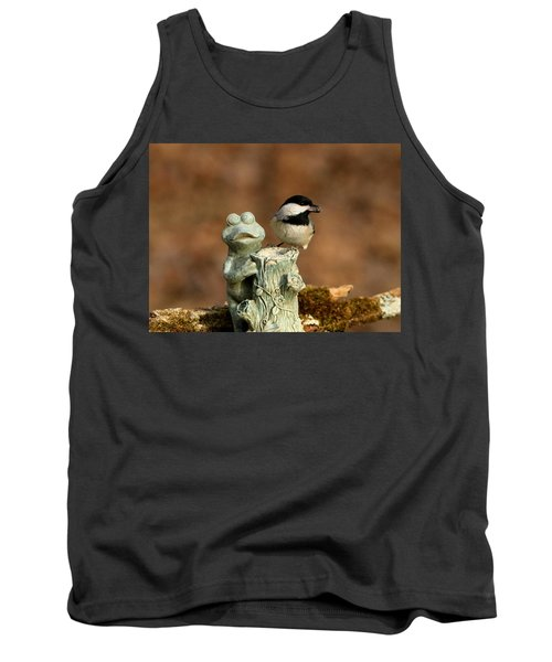 Black-capped Chickadee And Frog Tank Top