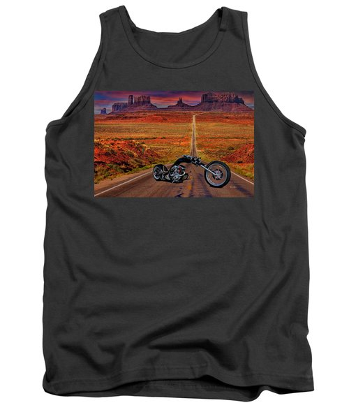 Black Chopper At Monument Valley Tank Top