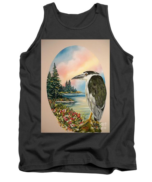Flying Lamb Productions                     Black Crowned Heron Tank Top
