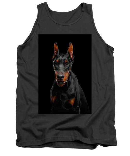 Black Doberman Tank Top