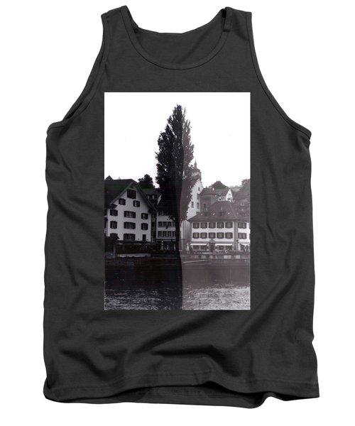 Black Lucerne Tank Top by Christian Eberli
