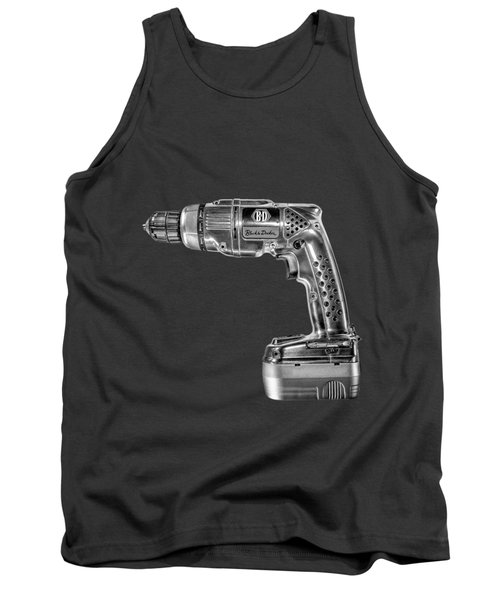 Black N Decker Retro Drill Bw Tank Top