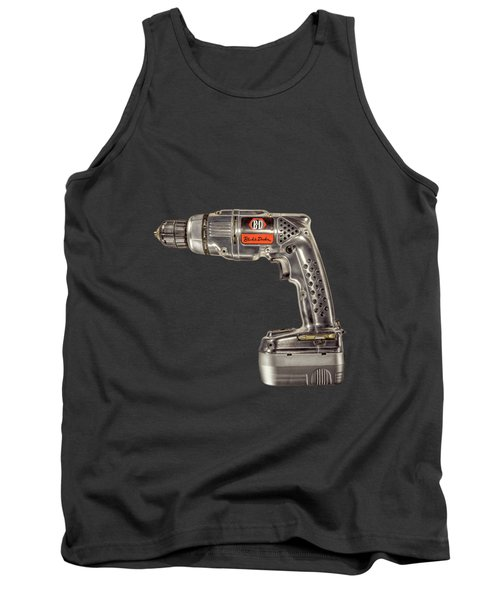 Black N Decker Retro Drill On Black Tank Top