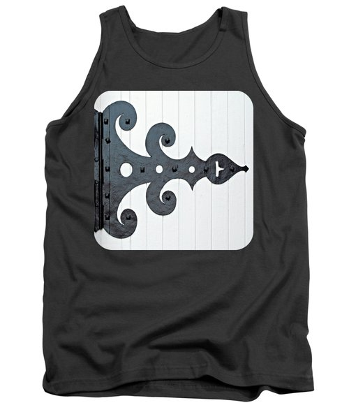 Black On White Tank Top by Ethna Gillespie