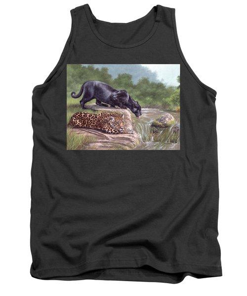 Black Panther And Jaguar Tank Top