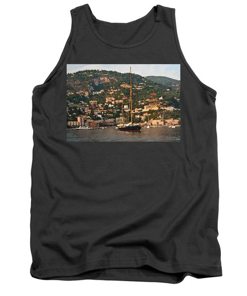 Black Sailboat At Villefranche II Tank Top