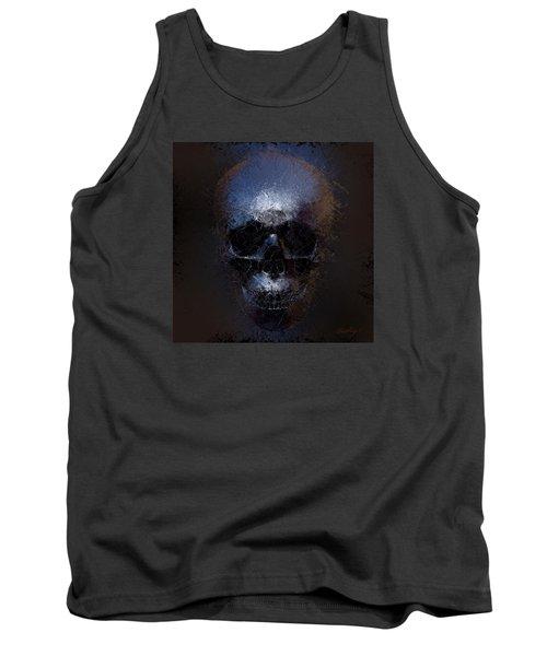 Black Skull Tank Top by Vitaliy Gladkiy
