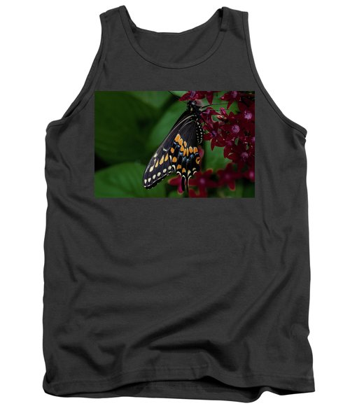 Tank Top featuring the photograph Black Swallowtail Butterfly by Jay Stockhaus