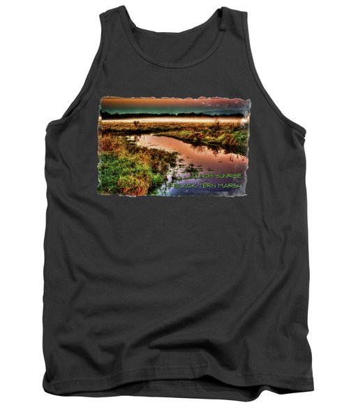 Black Tern Marsh October Sunrise Tank Top
