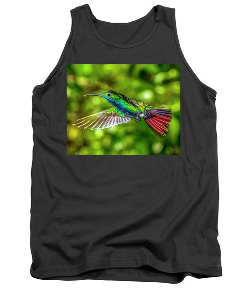 Tank Top featuring the photograph Black Throated Mango Sparkles by James Solomon