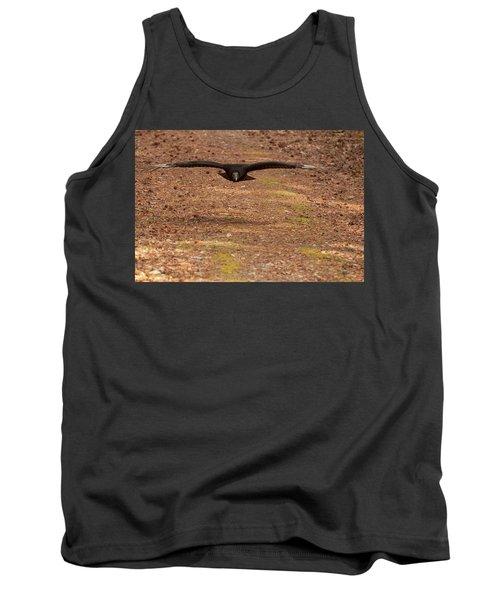 Black Vulture In Flight Tank Top by Chris Flees